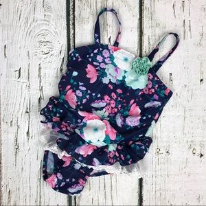Circo Floral Ruffle One Piece Swimsuit Sz 3T